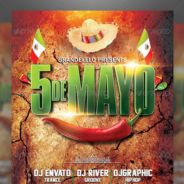 5 de Mayo a Mexican Party Flyer Template