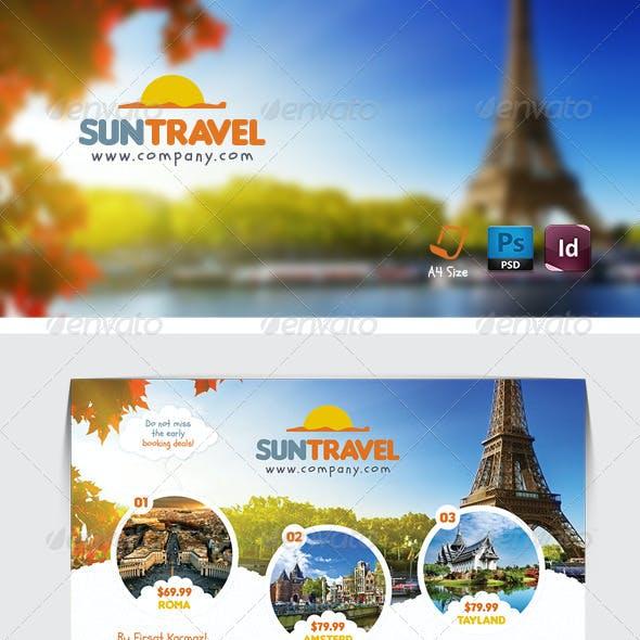 Travel Tour Flyer Templates