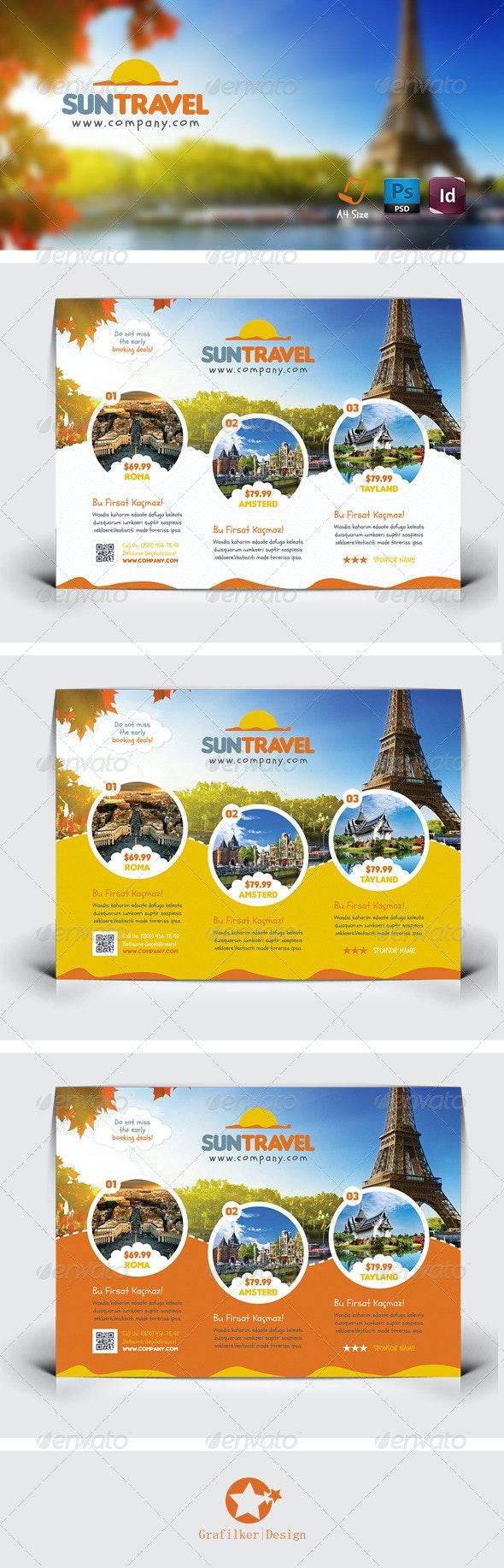 Travel Tour Flyer Templates - Corporate Flyers