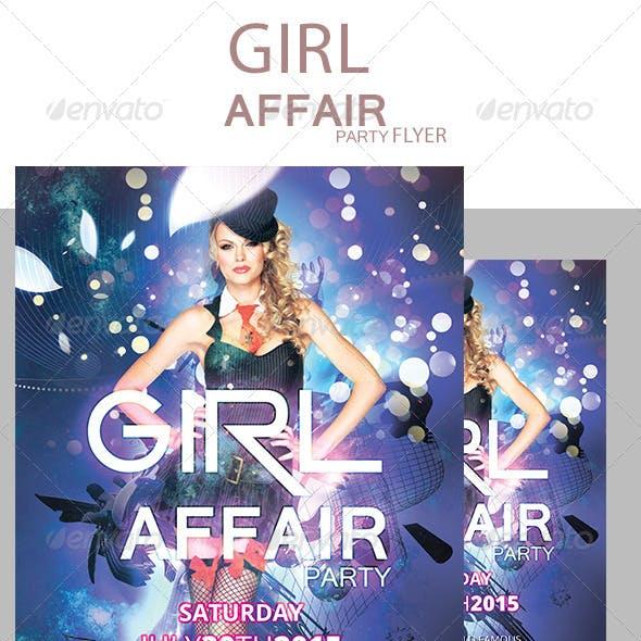 GIRL Affair party flyer