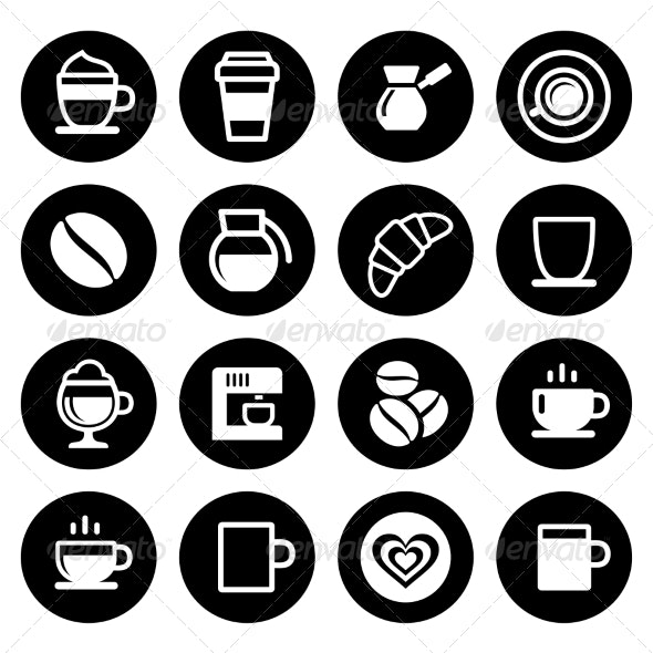 Coffee Icon Set - Food Objects