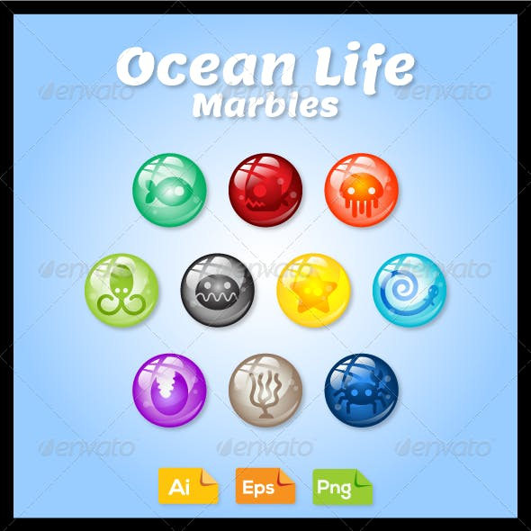 Game Asset - Ocean Life Marbles