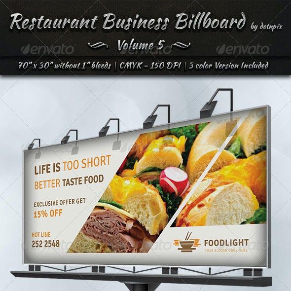 Restaurant Business Billboard | Volume 5