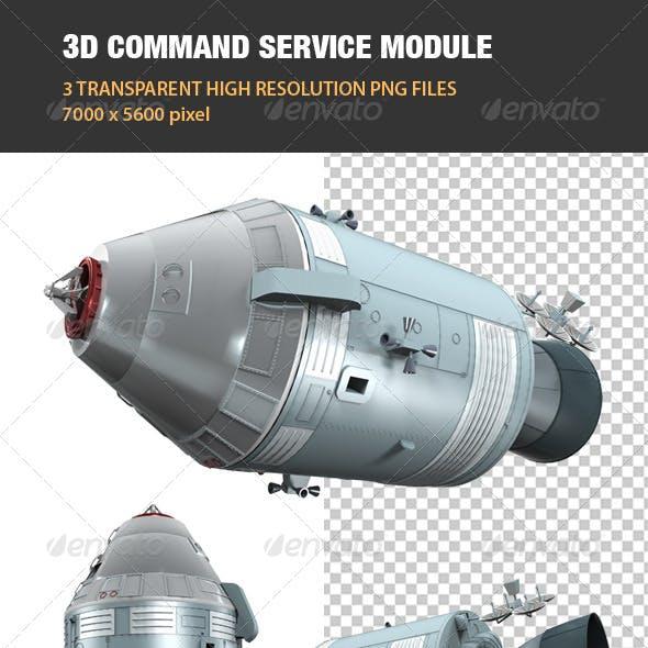 3D Command Service Module