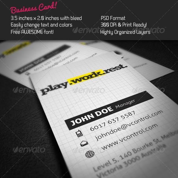Typo Rock Business Card