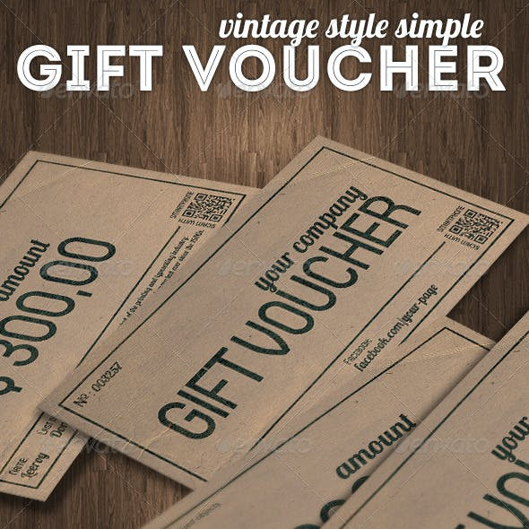 Vintage Style Gift Voucher or Discount Coupon