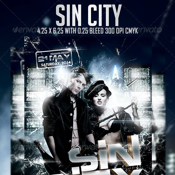 Sin City Flyer Template