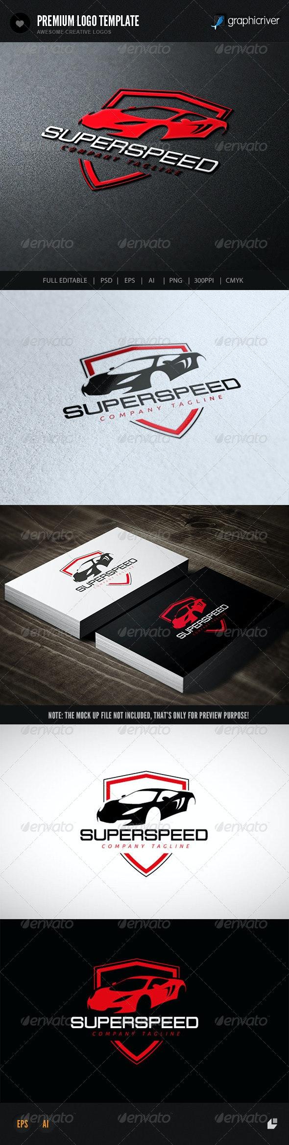 Super Speed - Crests Logo Templates