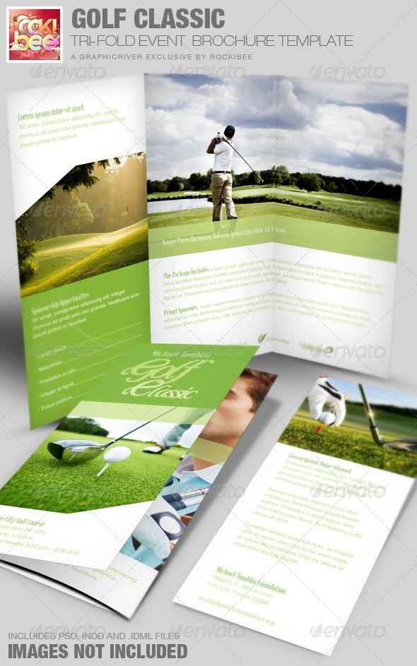 Golf Classic Event Tri-fold Brochure Template - Informational Brochures