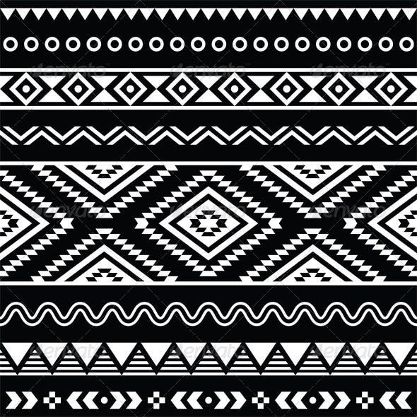 Folk Seamless Aztec Ornament Pattern