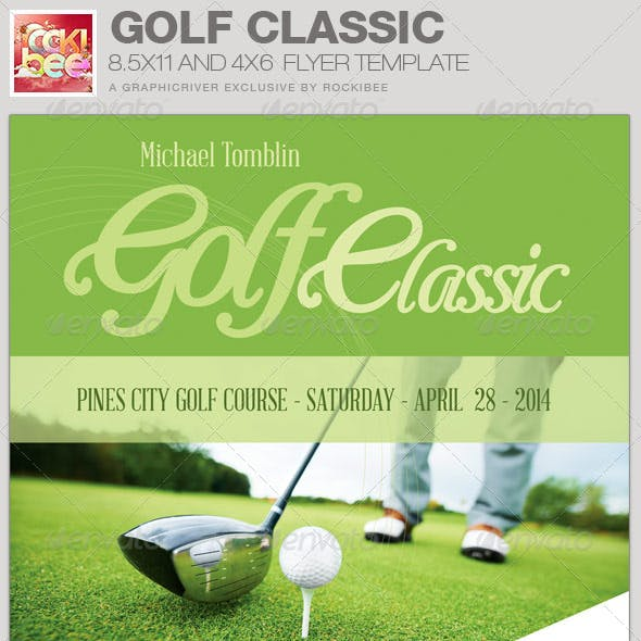 Golf Classic Event Flyer Template