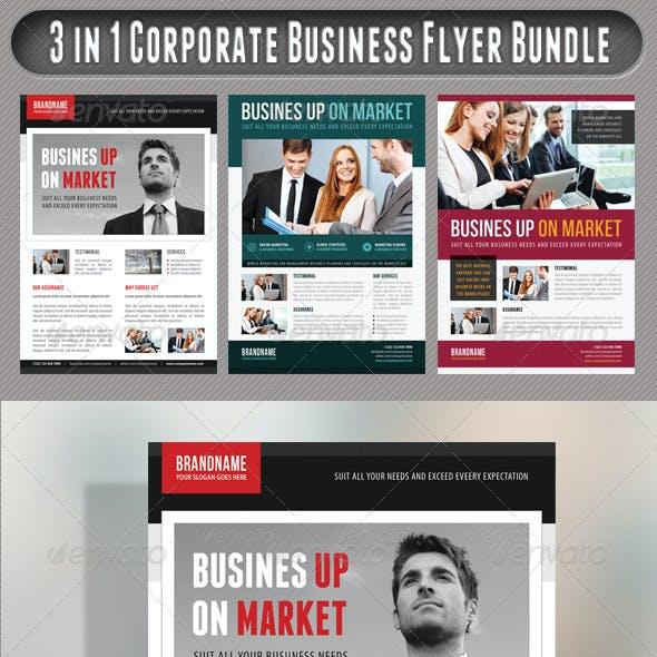 3 in 1 Corporate Flyers Bundle 17