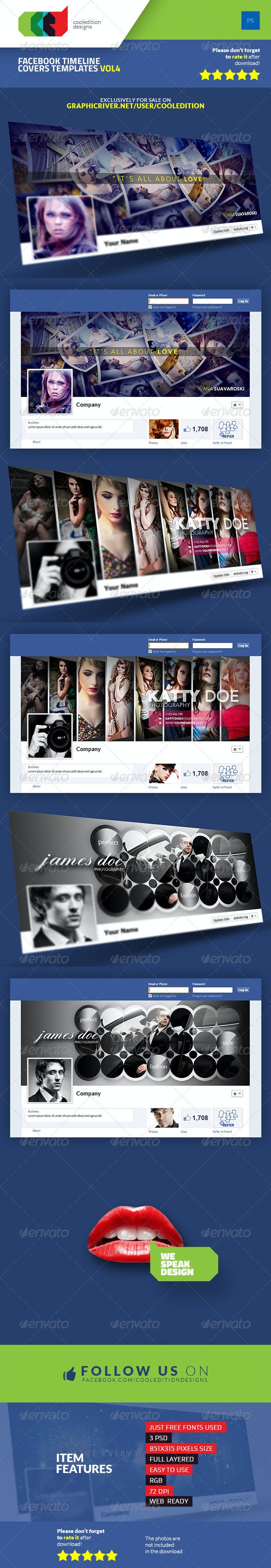 Facebook Timeline Covers Templates VOL4 - Facebook Timeline Covers Social Media
