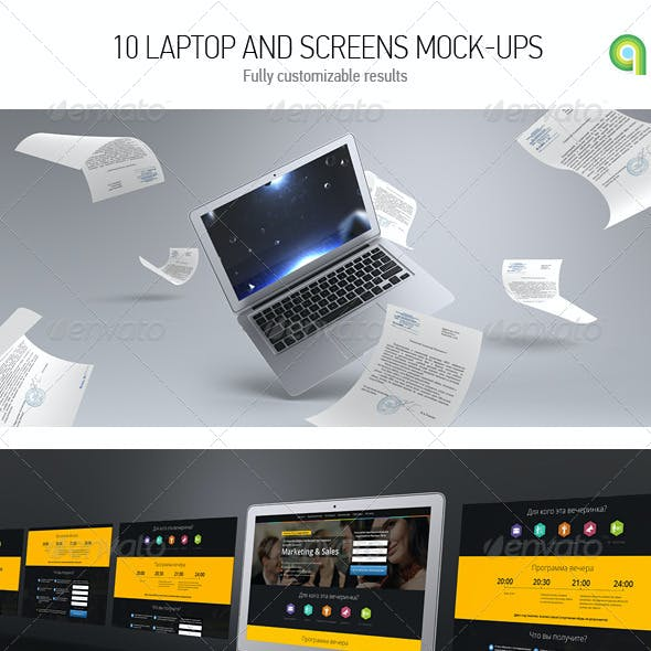 Laptop & Screen Mockup
