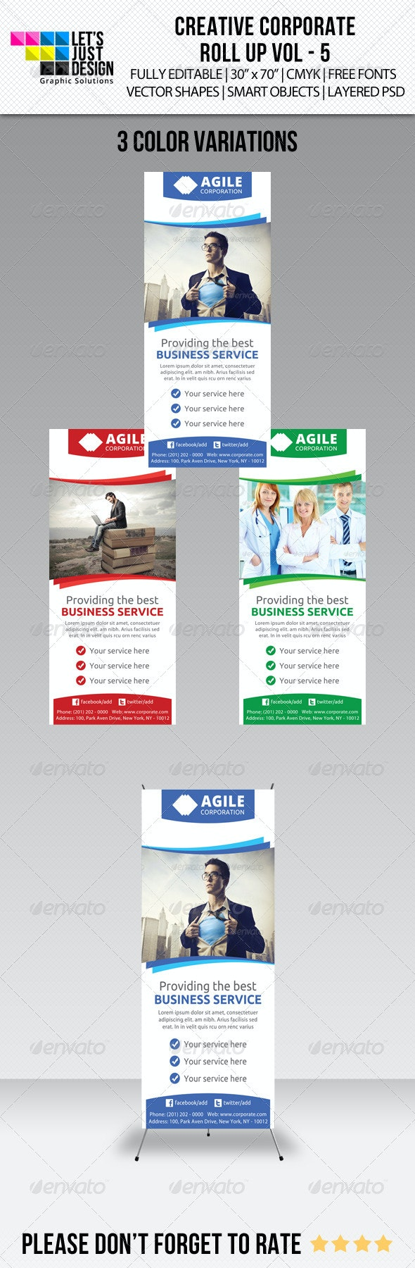 Corporate Roll-up Banner Vol 5 - Signage Print Templates