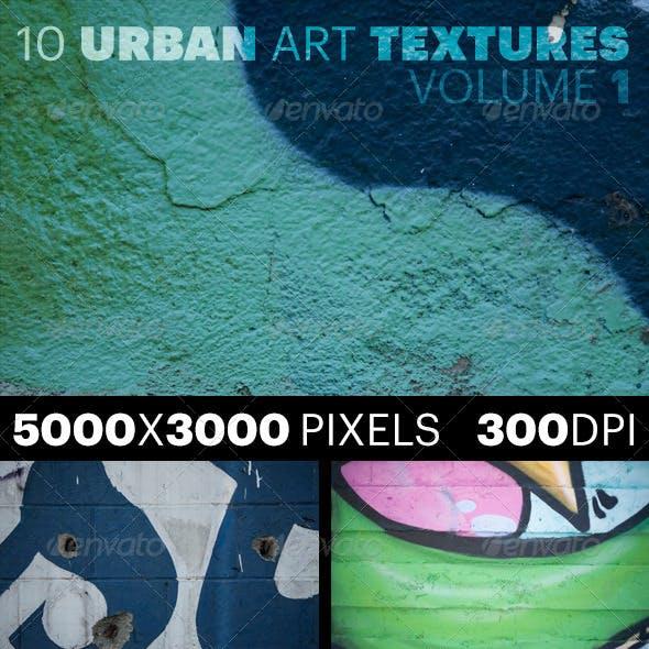 10 Urban Art Textures Volume 1