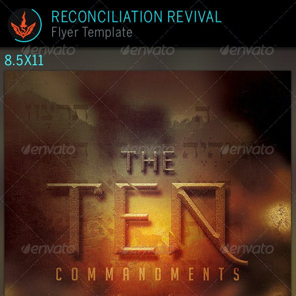 The 10 Commandments Series: Church Flyer Template
