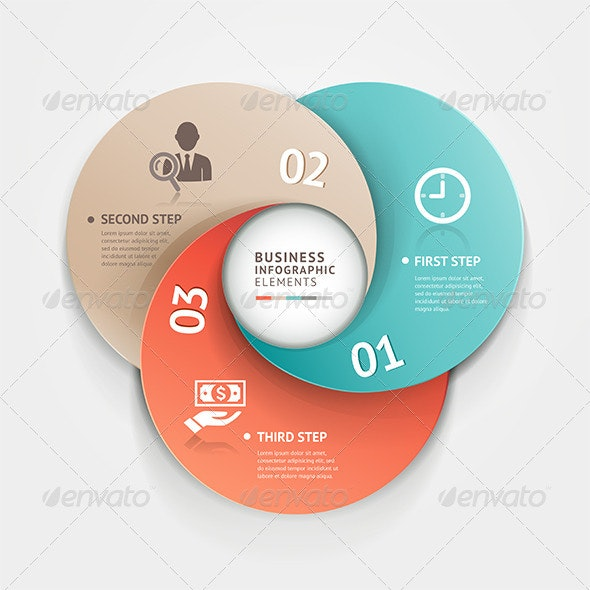 Modern Infographic Circle Origami Style. - Infographics