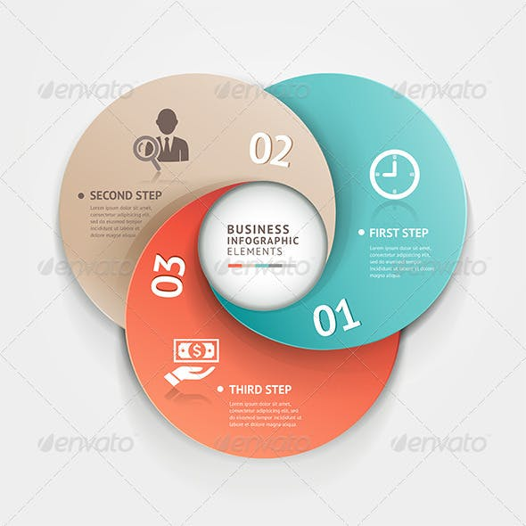 Modern Infographic Circle Origami Style.
