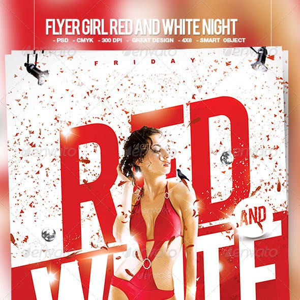 Flyer Girl Red and White Night