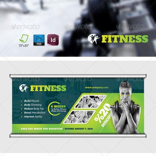 Fitness Salon Billboard Templates
