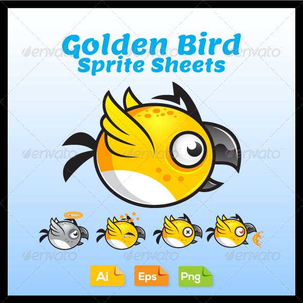 Game Character - Golden Bird Sprite Sheets