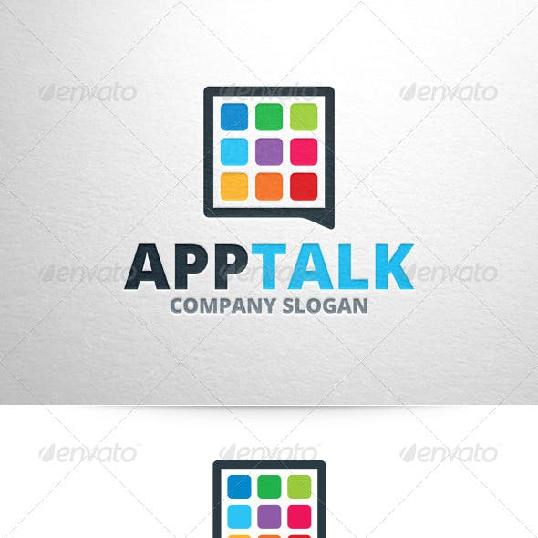 App Talk Logo Template