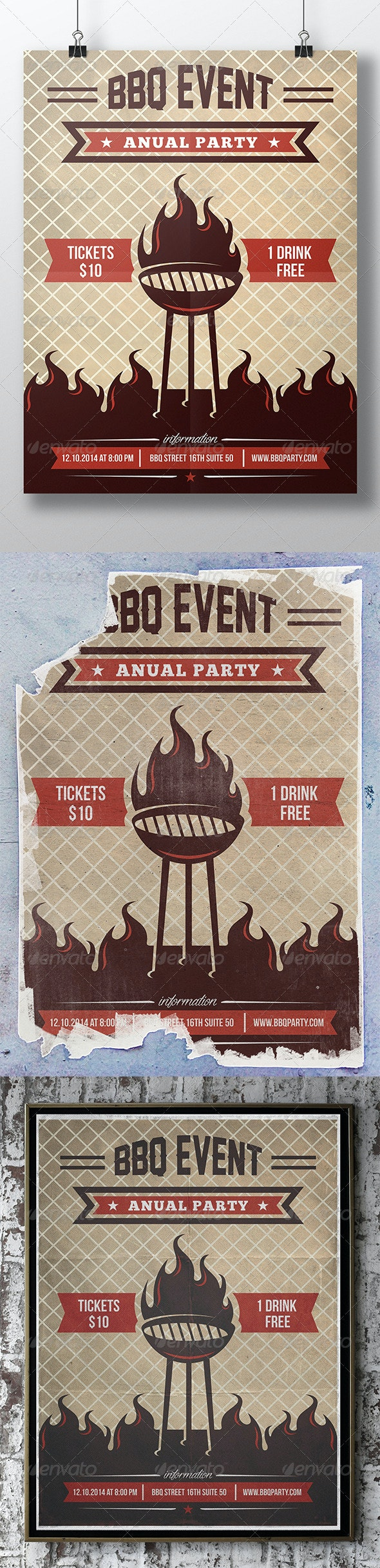 BBQ Summer Party Flyer - Events Flyers