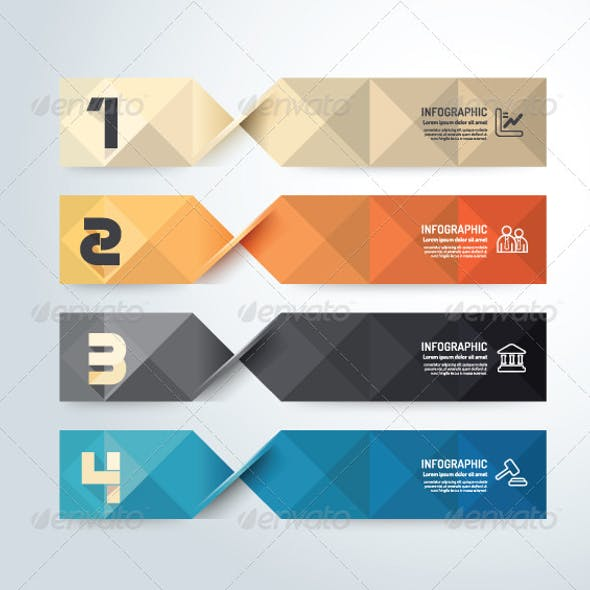 Modern Geometric Design Infographic Template