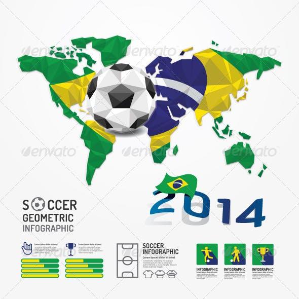 Infographic Soccer Ball Geometric