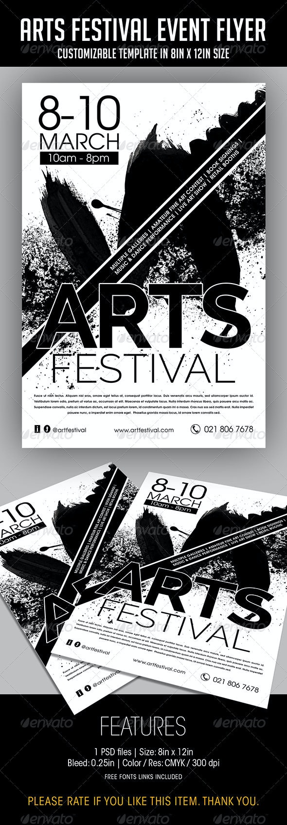 Arts Festival Event Flyer - Events Flyers