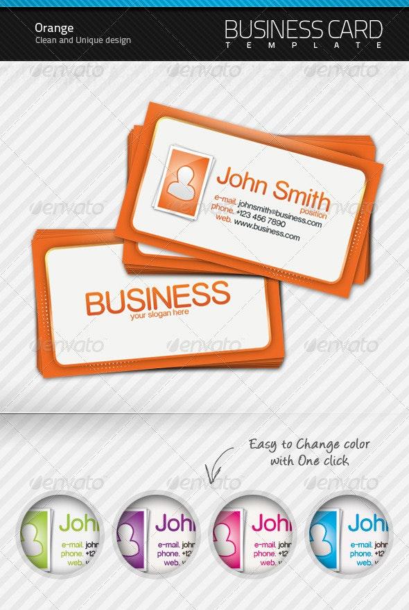 Orange Business Card - Creative Business Cards