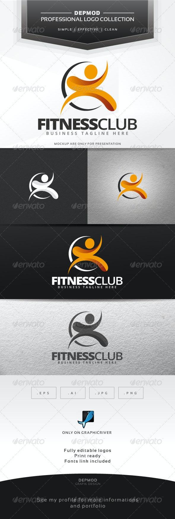 Fitness Club Logo - Humans Logo Templates