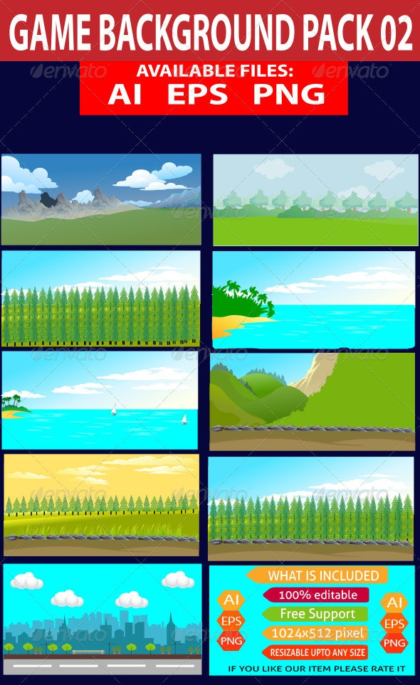 Game Background Pack 02 - Backgrounds Decorative