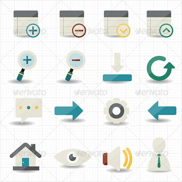 Internet Web and Mobile Icons