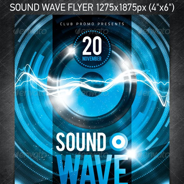 Sound Wave Party Flyer