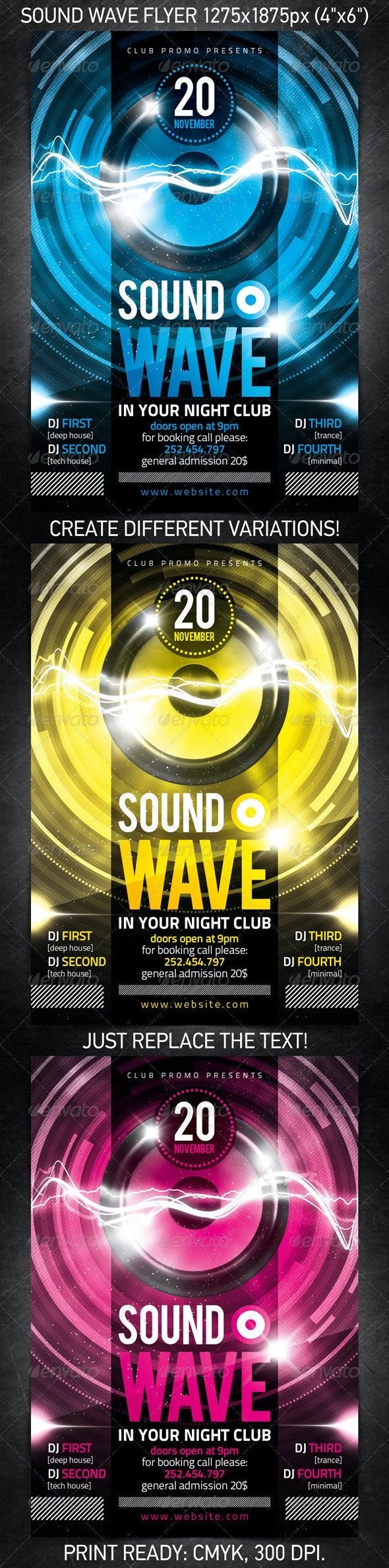 Sound Wave Party Flyer - Clubs & Parties Events