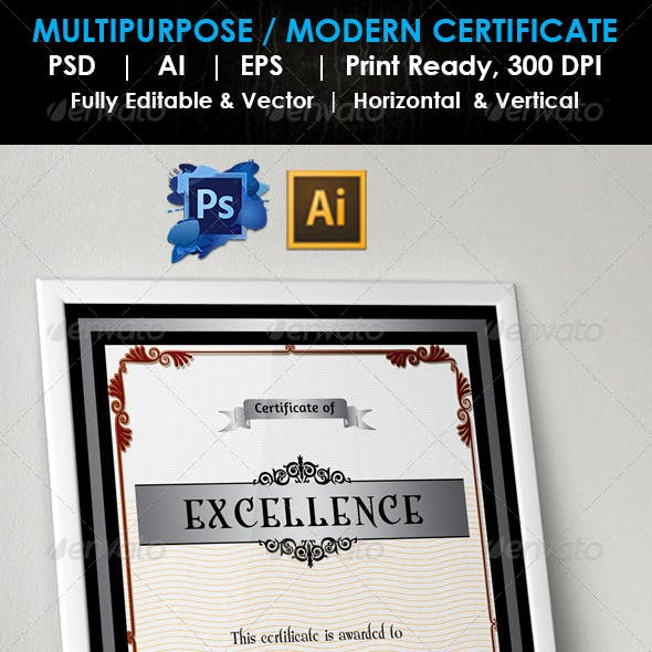 Simple Excellence Certificate GD004