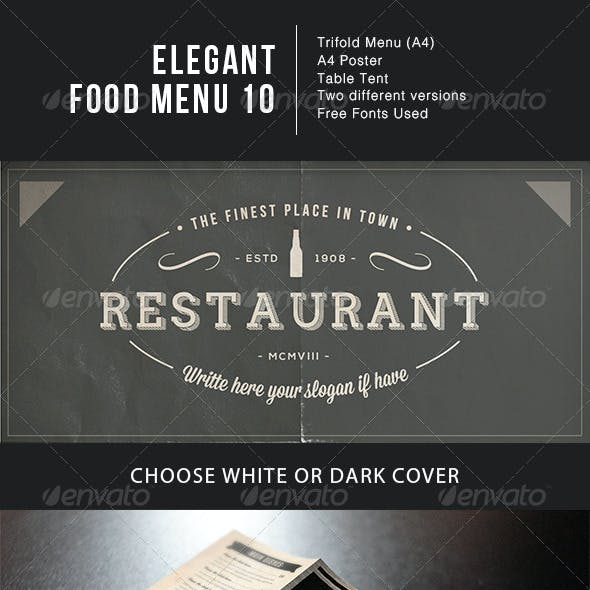 Elegant Food Menu 10