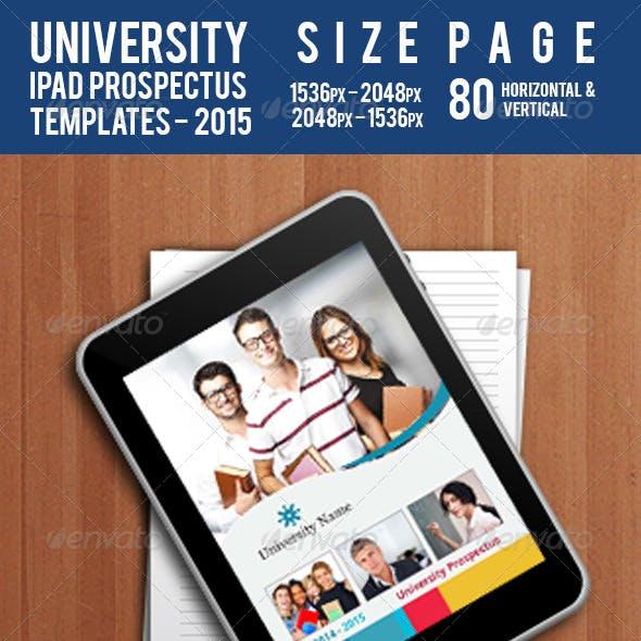 University - Ipad Prospectus Templates 2015