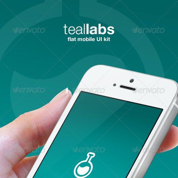 Teallabs - Modern & Cool Teal Flat Mobile UI Kit