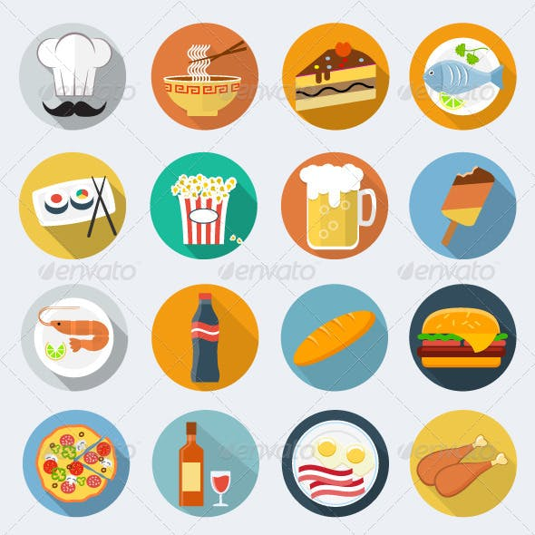 Food Flat Icons