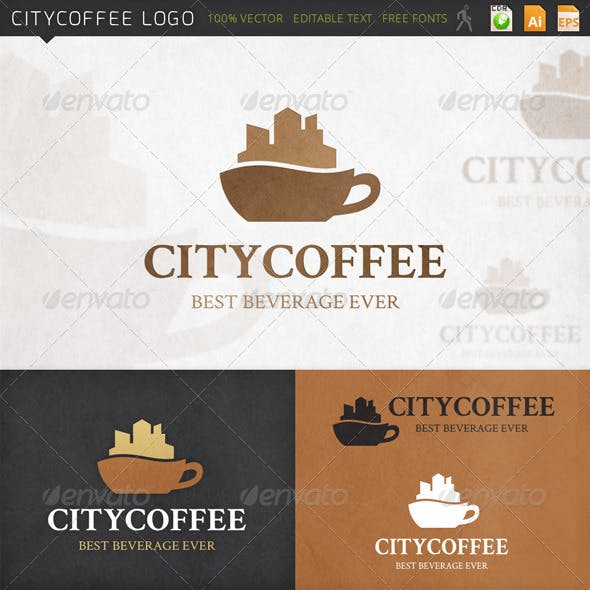 Citycoffee Cup Logo Template