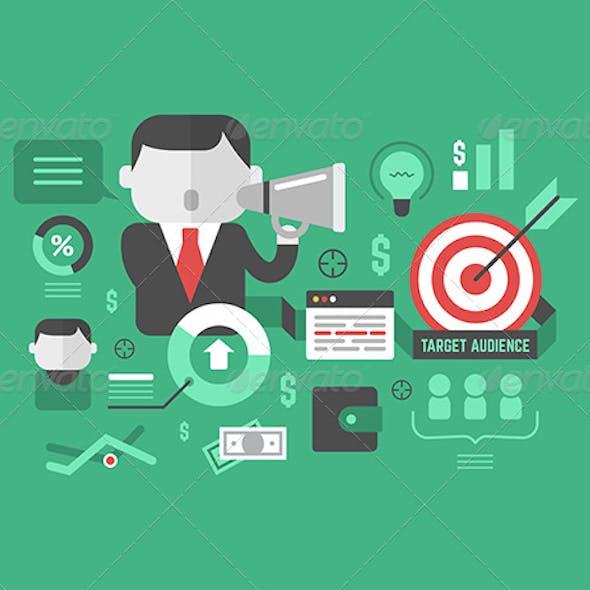 Target Audience. Digital Marketing Concept