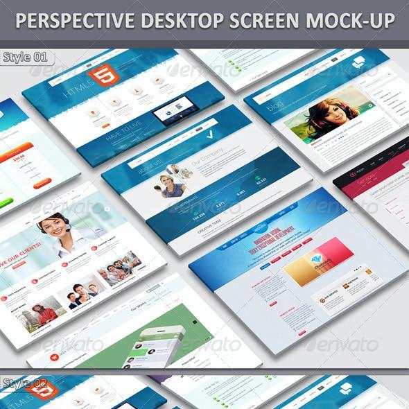Perspective Desktop Website Mock-Up