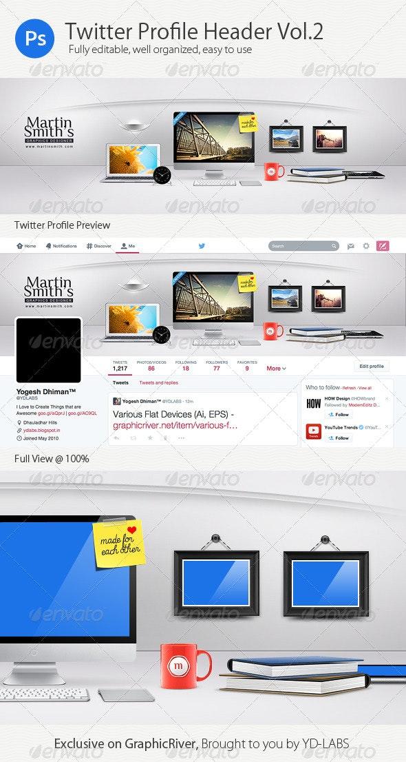 Twitter Profile Header V2 - Twitter Social Media