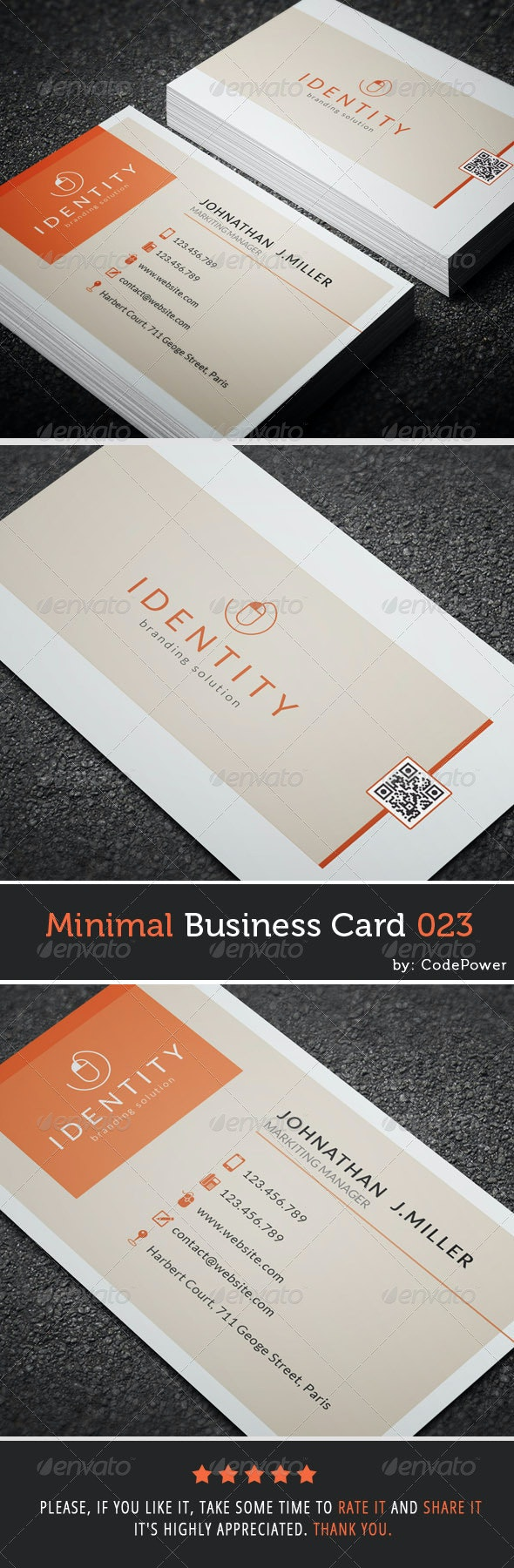 Minimal Business Card 023 - Corporate Business Cards
