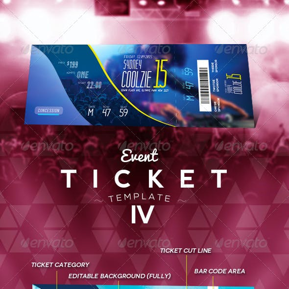 Event Ticket Template IV