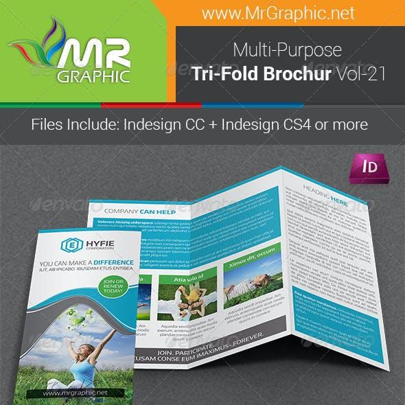 Multipurpose Business Tri-Fold Brochure Vol-21