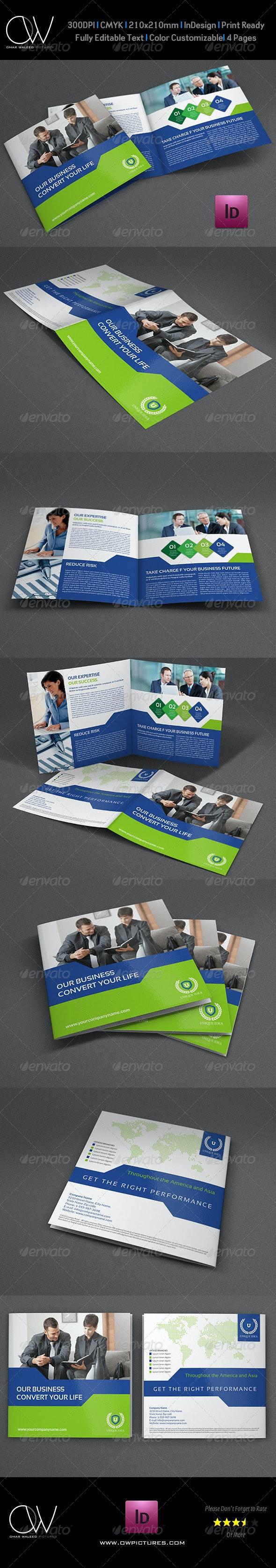 Company Brochure Bi-Fold Square Template Vol.25 - Corporate Brochures